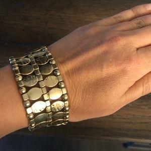 Anthropologie Jewelry - Anthropologie Gold Stretch Bracelet - NEW!